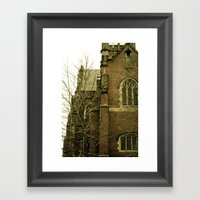Historic church Framed Art Print