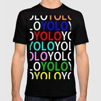 YOLO Mens Fitted Tee Black SMALL