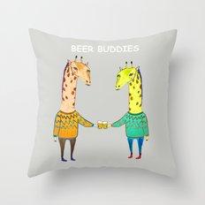 Beer Buddies Throw Pillow
