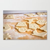 Cookies, Ready for the Oven Canvas Print