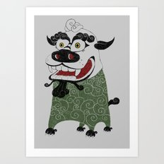 Shishi 獅 Art Print