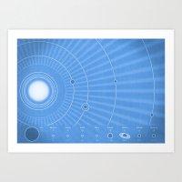 Solar System Cool Art Print