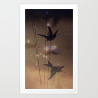 Hummingbird Galaxy Art Print