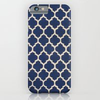 iPhone & iPod Case featuring VINTAGE in NAVY by C O R N E L L