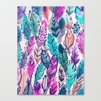 WILD FEATHERS Canvas Print