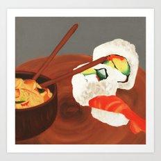 Sushi love. Art Print