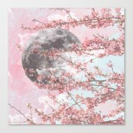 Spring Moon Canvas Print