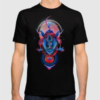 Blue gibbon Mens Fitted Tee Black SMALL