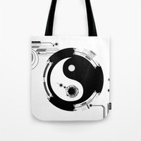 Tech Yin Yang Tote Bag