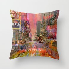 traffic jam pink Throw Pillow