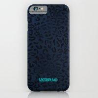 Modern Woodgrain Camouflage / Zaire KDP Print Purple iPhone 6 Slim Case