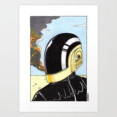 Derezzed Art Print