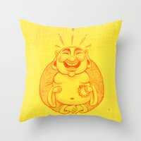 Laughter Brightens The S… Throw Pillow