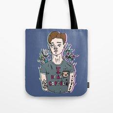 //Connor Franta: I Heart Coffee's// Tote Bag