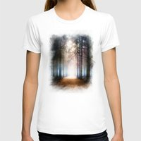 forest T-shirts featuring Enchanted Forest by Viviana Gonzalez
