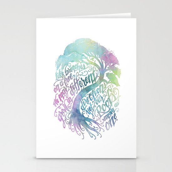 Our Roots Remain As One Stationery Card