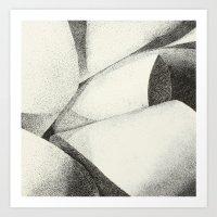 Ribbon - Pen & Ink Illus… Art Print