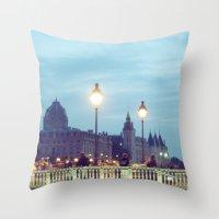 Paris at Night: Pont Neuf Throw Pillow