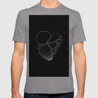 BLACK HEART Mens Fitted Tee Athletic Grey SMALL
