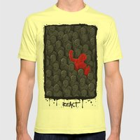 REACT Mens Fitted Tee Lemon SMALL
