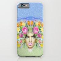 Woman Flowers Colors iPhone 6 Slim Case
