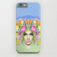 Woman Flowers Colors iPhone 6 Slim Case