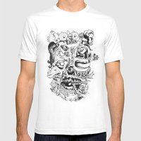 Skull - Inktober 2013 Mens Fitted Tee White SMALL
