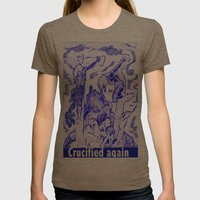 Crucified again Womens Fitted Tee Tri-Coffee SMALL