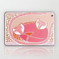 Sleepy Happy Foxes Laptop & iPad Skin