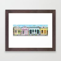 New Orleans Houses Framed Art Print