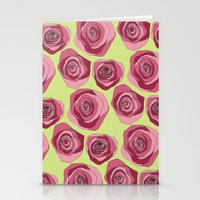Bright Rose Pattern Stationery Cards