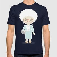 Girls in their Golden Years - Sophia Mens Fitted Tee Navy SMALL