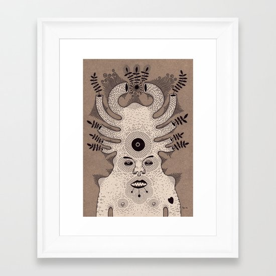 g r o w  Framed Art Print