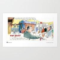 "Swasky, ""Plaça Joan P… Art Print"