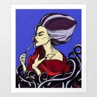 Ursula After A Hard Days… Art Print