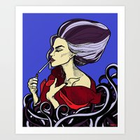 Ursula After A Hard Days… Art Print