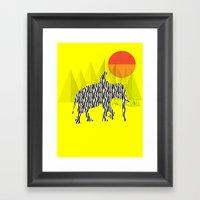 Zelephant - Mahout & Ele… Framed Art Print