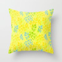 Picnic Pals paint in citrus Throw Pillow