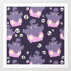 Pumpkaboo Pattern Art Print