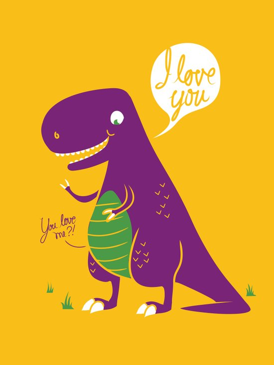 The Friendly T-Rex Canvas Print