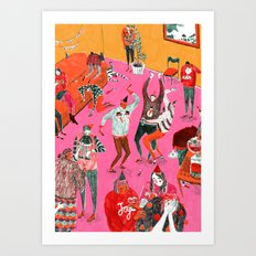 Christmas Party Art Print
