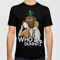 Who Dunnit? Mens Fitted Tee Black SMALL
