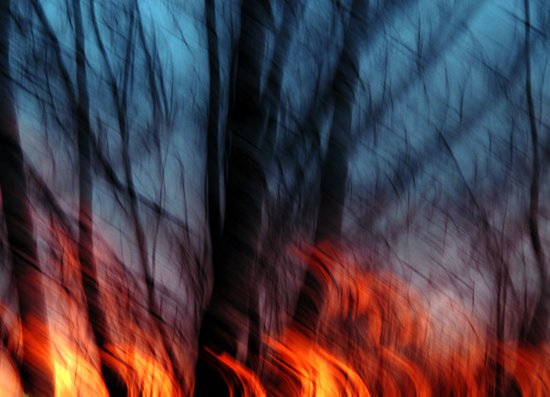 Out of the Blue into the Fire #II Art Print