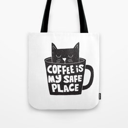 Tote Bag - coffee is my safe place - Matthew Taylor Wilson