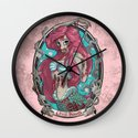 Zombie Little Mermaid Wall Clock