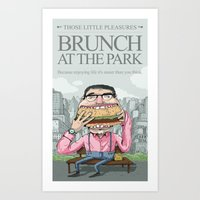 Brunch At The Park Art Print