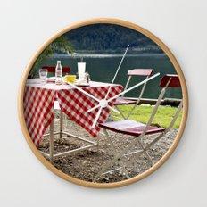 Summer at Hallstatt Lake Wall Clock