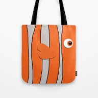 Tote Bag featuring Cute Clown Fish by Neutrone