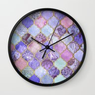 Royal Purple, Mauve & In… Wall Clock