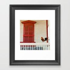 Key West Rooster Framed Art Print